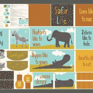 SAFARI LIFE BOOK_CUT AND SEW PANEL_OUTLINE